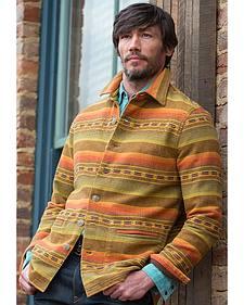 Ryan Michael Men's Gold Stripe Jacquard Jacket