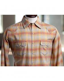 Ryan Michael Men's Melange Plaid Shirt