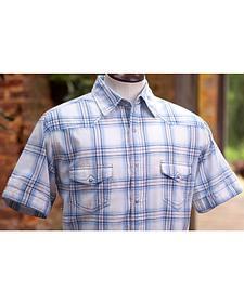 Ryan Michael Men's Sun Bleach Plaid Short Sleeve Shirt