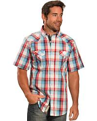 Men's Plaid Short Sleeve Shirts