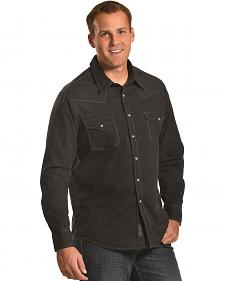 Rock and Roll Cowboy Men's Black Western Snap Shirt