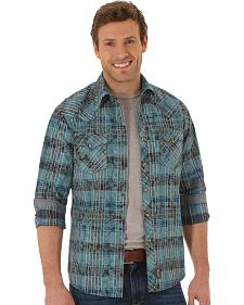 Wrangler Retro Men's Plaid Paisley Western Shirt