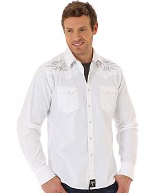 Wrangler Rock 47 Men's White Embroidered Western Shirt