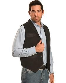 Ryan Michael Men's Black Leather Suede Vest