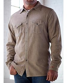 Ryan Michael Men's Tan Teton Texture Stripe Shirt
