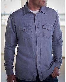 Ryan Michael Men's Jeans Yarn Dye Houndstooth Shirt