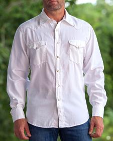 Ryan Michael White Whip Stitch Classic Western Shirt