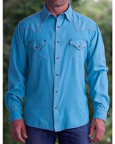Ryan Michael Men's Medium Blue Pool Western Shirt