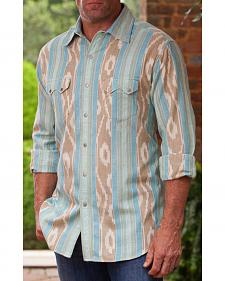 Ryan Michael Men's Sky Ikat Western Shirt