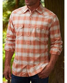 Ryan Michael Men's Ombre Paprika Plaid 9 Western Shirt