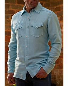 Ryan Michael Men's Blue Pool Western Shirt