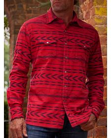 Ryan Michael  Men's Red Beacon Blanket Shirt