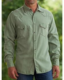 Ryan Michael Men's Fern Whip Stitch Silk Twill Shirt