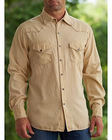 Ryan Michael Men's Rattan Whip Stitch Silk Twill Shirt