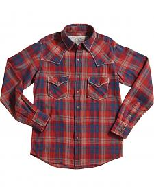 Ryan Michael Crimson Plaid Long Sleeve Shirt