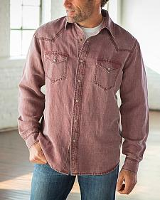 Ryan Michael Men's Wine Waffle Texture 4 Needle Shirt