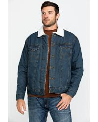 Wrangler Sherpa Lined Denim Jacket at Sheplers