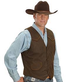 Outback Trading Co. Cliff Dweller Berber Lined Oilskin Vest