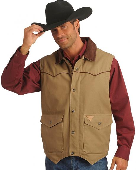 Powder River Outfitters Lined Canvas Vest