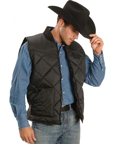 Black Polyfill Quilted Vest