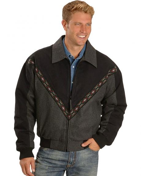 Cripple Creek Wool & Microsuede Western Jacket