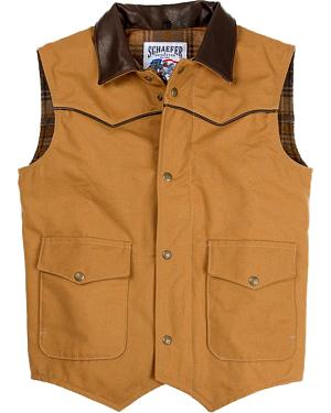 Schaefer Cattleman Canvas Vest