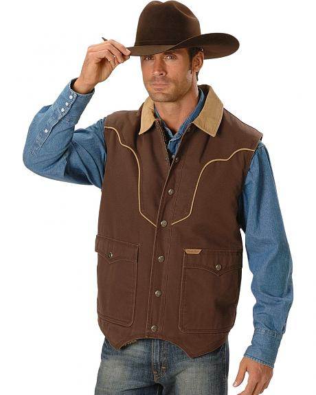 Powder River Outfitters Berber Lined Canvas Vest