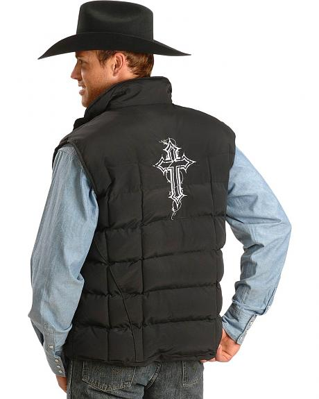 Cowboy Hardware Barbed Wire Cross Nylon Vest