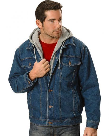 Sweatshirt Hooded Denim Jacket
