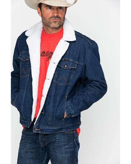 Wrangler Sherpa Lined Denim Jacket