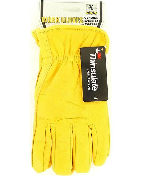 HD Xtreme Fleece Lined Deerskin Gloves