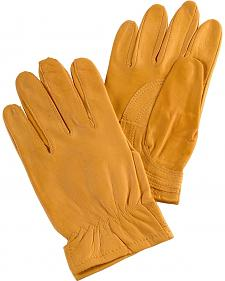 Justin Women's Tan Goatskin Gloves