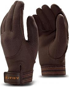 Ariat Insulated TEK Grip Brown Gloves