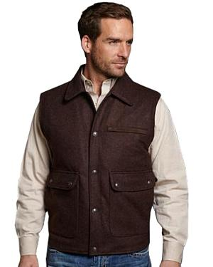 Cripple Creek Leather Trim Wool Vest