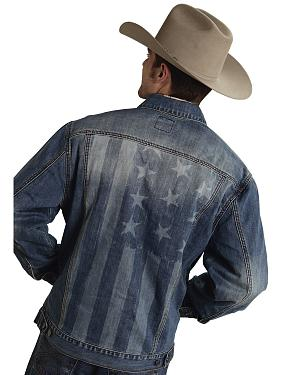 Roper Americana Collection American Flag Jean Jacket