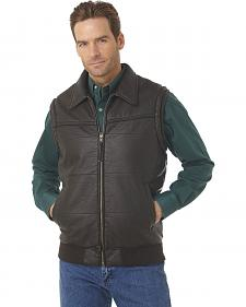 Cripple Creek Zip-front PVC Polyfill Vest with Knit Trim