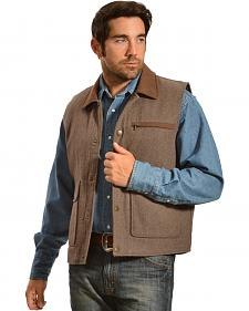 Red Ranch Men's Tan Cargo Wool Vest