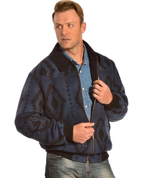 Powder River Outfitters Men's Aztec Wool Bomber Jacket