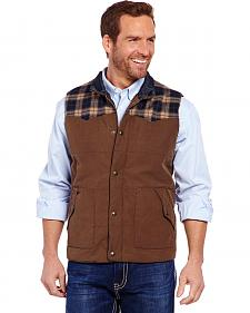 Cripple Creek Men's Plaid Yoke Vest