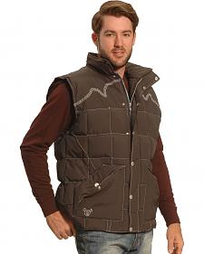 Cowboy Hardware Men's Brown Triple Barbwire Nylon Vest