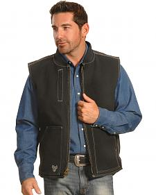 Cowboy Hardware Men's Black Steer Skull Vest