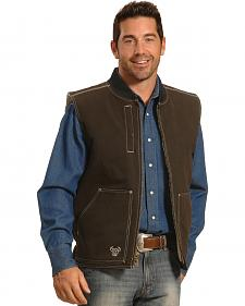 Cowboy Hardware Men's Brown Steer Skull Vest