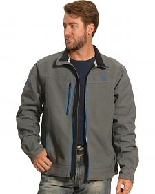 Cowboy Hardware Men's Grey and Blue Woodsman Jacket