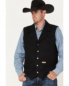 Powder River Outfitters Men's Black Wool Montana Vest
