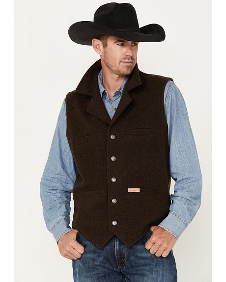 Powder River Outfitters Men's Brown Wool Montana Vest