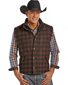 Powder River Outfitters Men's Plaid Oakridge Wool Vest