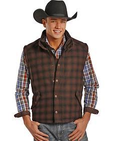 Powder River Outfitters Men's Plaid Oakridge Wool Vest