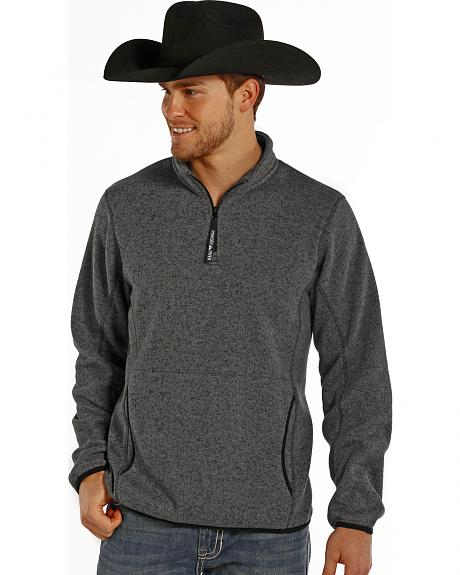 Powder River Outfitters Men's Charcoal Grey 1/4 Zip Pullover