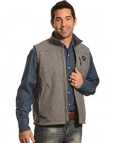 Hooey Men's Grey Logo Softshell Vest
