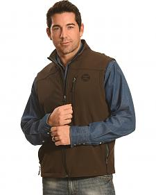 Hooey Men's Brown Logo Vest